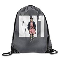 Mochila de tela Eleven Stranger Things color gris