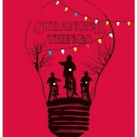 póster rojo Stranger Things