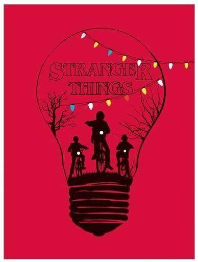 póster rojo Stranger Things