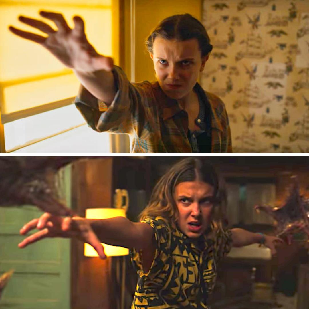 Eleven usando sus poderes
