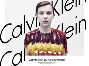 Campaña como modelo de Millie Bobby Brown By Appointment de Calvin Klein